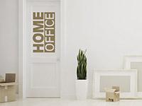 Englisches Wandtattoo Home Office auf der Tür