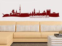 Skyline Wandtattoo Hannover im Wohnzimmer