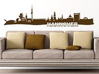 Hannover Wandtattoo Skyline über der Couch