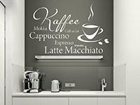 Wandtattoo Café Time