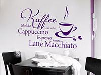 modernes Kaffee Cappuccino Wandtattoo
