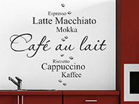 Café Variationen Wandtattoo für Ihre Küche