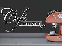geschwungenes Café Lounge Wandtattoo in der Küche