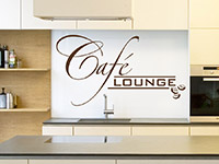 Kaffee Lounge Wandtattoo mit Kaffeebohnen