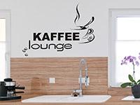 modernes Kaffee Lounge Wandtattoo mit Kaffeebohnen
