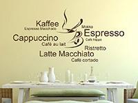 Wandtattoo Kaffeetasse mit Kaffeesorten | Bild 3