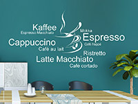 Wandtattoo Kaffeetasse mit Kaffeesorten | Bild 4