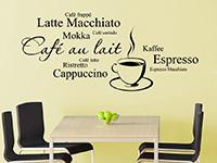 Espresso Cappuccino Kaffee Wandtattoo