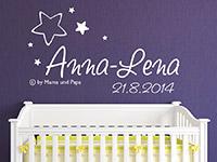 Wandtattoo Babyname copyright by Mama und Papa | Bild 2
