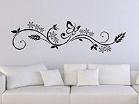 Ornament Wandtattoo Florales Design im Wohnzimmer