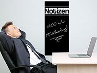 Notizen Tafelfolie im Büro