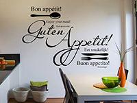Internationales guten Appetit Wandtattoo in der Küche