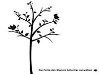 Wandtattoo Apfelbaum mit Fotorahmen Motivansicht