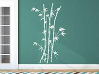 Filigraner Bambus Wandtattoo im Flur in weiß