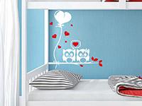 Ast Wandtattoo mit süßem Eulenpärchen im Kinderzimmer