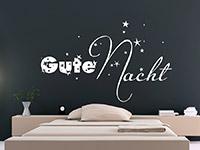wunderschönes Sterne Wandtattoo Gute Nacht