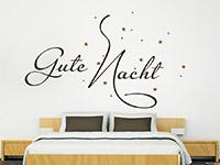 Wandtattoo Gute Nacht mit Sternenhimmel | Bild 2