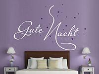 Wandtattoo Gute Nacht mit Sternenhimmel | Bild 4