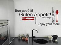 modernes guten Appetit Wandtattoo in der Küche