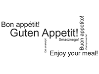 Wandtattoo Bon appétit Motivansicht