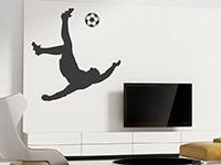 Wandtattoo Fußball Artist im Wohnzimmer
