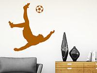 Sport Wandtattoo Fußball Artist in Farbe