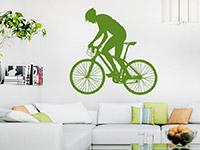 Wandtattoo Mountainbiker  im Wohnzimmer