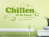 Wandtattoo Chillen ist die Kunst... | Bild 2