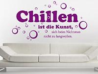 Wandtattoo Chillen ist die Kunst... | Bild 4