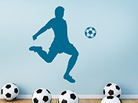 Wandtattoo Fußball Künstler im Kinderzimmer