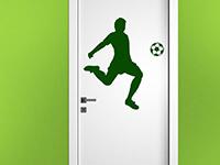 Tür Wandtattoo Fußball Künstler in grün