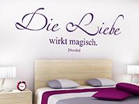 Wandtattoo Die Liebe wirkt magisch in lila