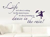 Wandtattoo Life isn't about waiting...  im Wohnzimmer