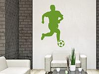 Wandtattoo Fußballer Mittelfeld im Wohnzimmer