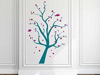 Baum mit Herzen Wandtattoo als bunte Gestaltungsidee für die Wände