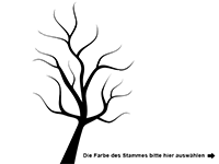 Wandtattoo Baum mit Herzen