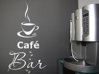 Wandtattoo Café Bar