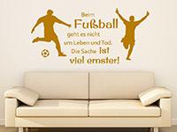 Sport Wandtattoo Beim Fußball geht es... Spruch in Farbe