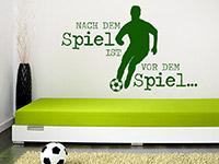 Cooles Sport Wandtattoo Nach dem Spiel... über dem Bett im Jugendzimmer