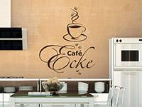 Wandtattoo Café Ecke