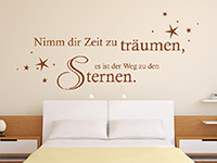 Wandtattoo Nimm dir Zeit mit Sternenhimmel | Bild 4