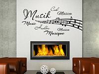 Wandtattoo Musik in verschiedenen Sprachen | Bild 2