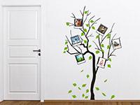 Wandtattoo Fotobaum zweifarbig