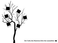 Wandtattoo Fotobaum zweifarbig Motivansicht