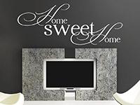 Wandtattoo Home Sweet Home im Wohnzimmer