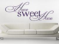 Wandtattoo Home Sweet Home englisch über der Couch