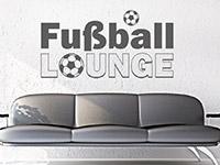 Wandtattoo Fußball Lounge im Wohnzimmer