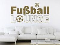 Cooles Sport Wandtattoo Fußball Lounge auf heller Wandfläche