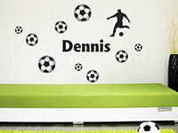 Wandtattoo Fußballfan mit Name | Bild 3