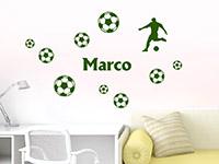 Wandtattoo Fußballfan mit Name | Bild 4